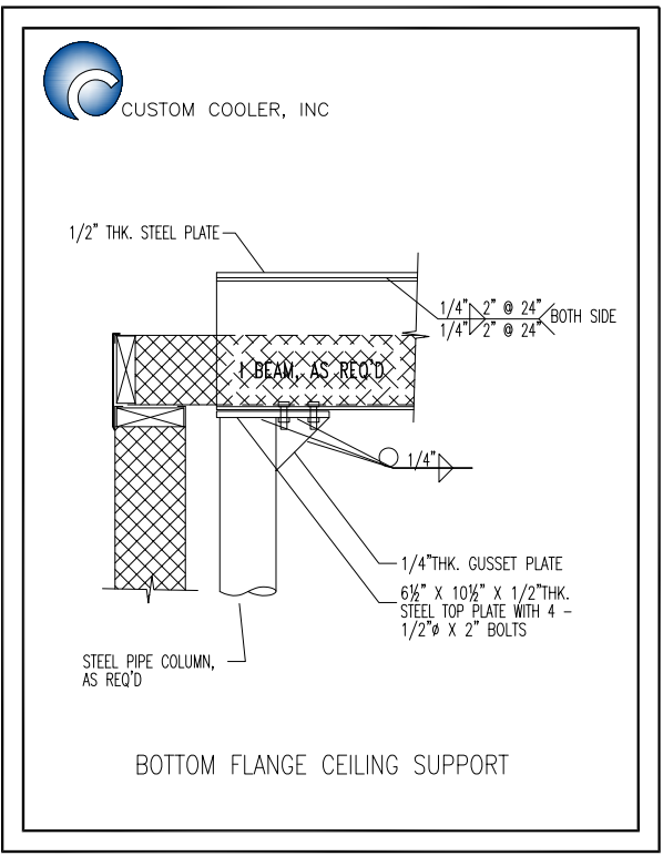 Bottom Flange Ceiling Support