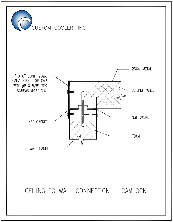 Ceiling to Wall Conn - Camlock