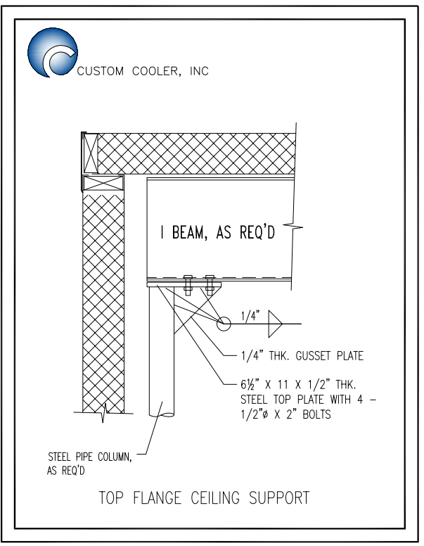 Top Flange Ceiling Support